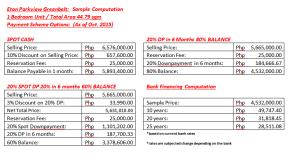 Sample Computation in Pesos