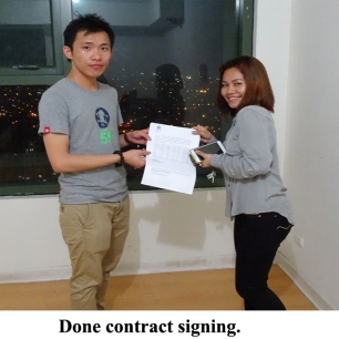 Done contract signing.